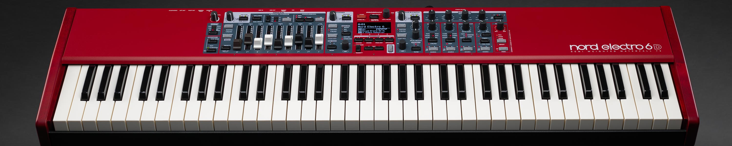 Clavia Nord Electro 6D 73 Front Angled Performance